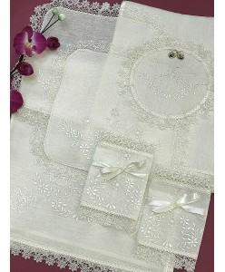 PL 058-01 Венчальный набор ЛЁН вышитый