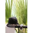 SH 591  Шляпка-клош черная с вышивкой