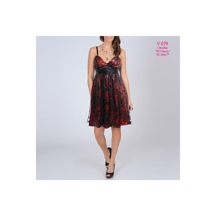 d4c1842ddd6 Коктейльное платье черно-красного цвета V 079 - Hatshop интернет ...