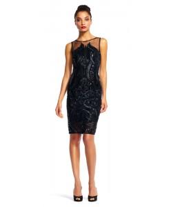 V 212 Роскошное платье в паетках черное