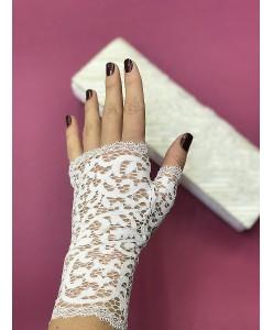 PR 167-iv Перчатки бело-молочного цвета