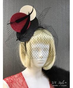 SH 606 Креативная шляпка на ободке с вуалью