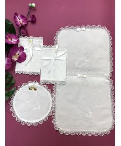 PL 079-mini Набор платочков белый хлопковый