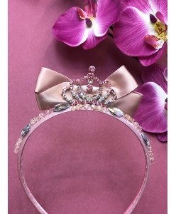 SH 613 Детский ободок розовый с короной
