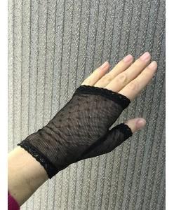 M 009 Перчатки черные сеточка короткие