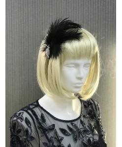 SH 604-1 Ободок черный с перьями