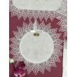 PL  105  Мини набор платочков на венчание белый лён