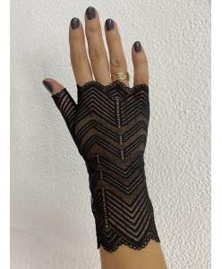 PR 088 Перчатки кружевные черные