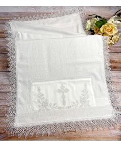 XR 011 Махровая крыжма-полотенце для крестин