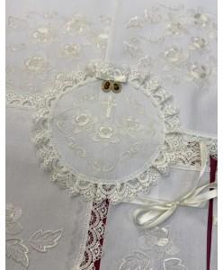 PL 066-xlop-iv Набір біла бавовна квіти айворі