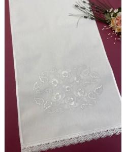 RU 066-2-xlop Рушник білий по білому бавовна