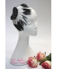 Веер из перьев черного цвета SH 292-B