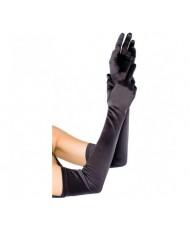 Перчатки атласные черные PR 093