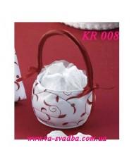 Свадебная корзинка для лепестков KR 008