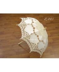 Кружевной зонт цвета айвори Z 003