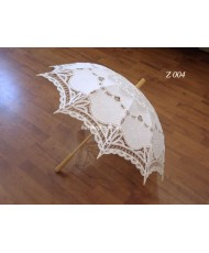 Свадебный кружевной зонт белого цвета Z 004
