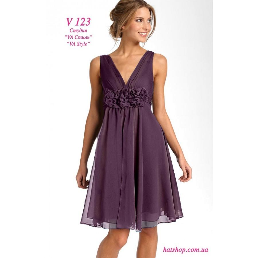 752d050254c V 123 Тёмно-лиловое платье из шифона - Hatshop интернет магазин ...