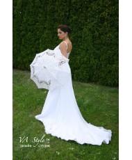 Z 005 Свадебный кружевной зонт белого цвета