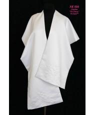 NK 004 Атласная накидка-шаль белая
