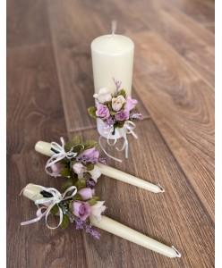 SV 015 Набір свічок з квітами