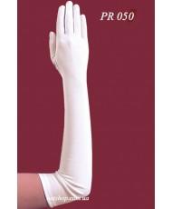 PR 050 Перчатки белые  с пальцами