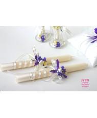 SV 021 Свадебные свечи Сирень