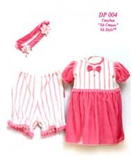 DP 004 Платье и штанишки розово-белые