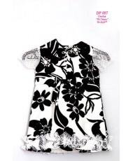 DP 007 Платье черно-белое для девочки