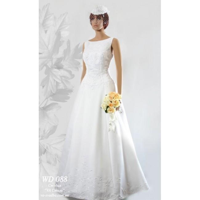 d42e4fa40fc WD 088 Белое свадебное платье атлас. https   www.hatshop.com.ua 799-1445-