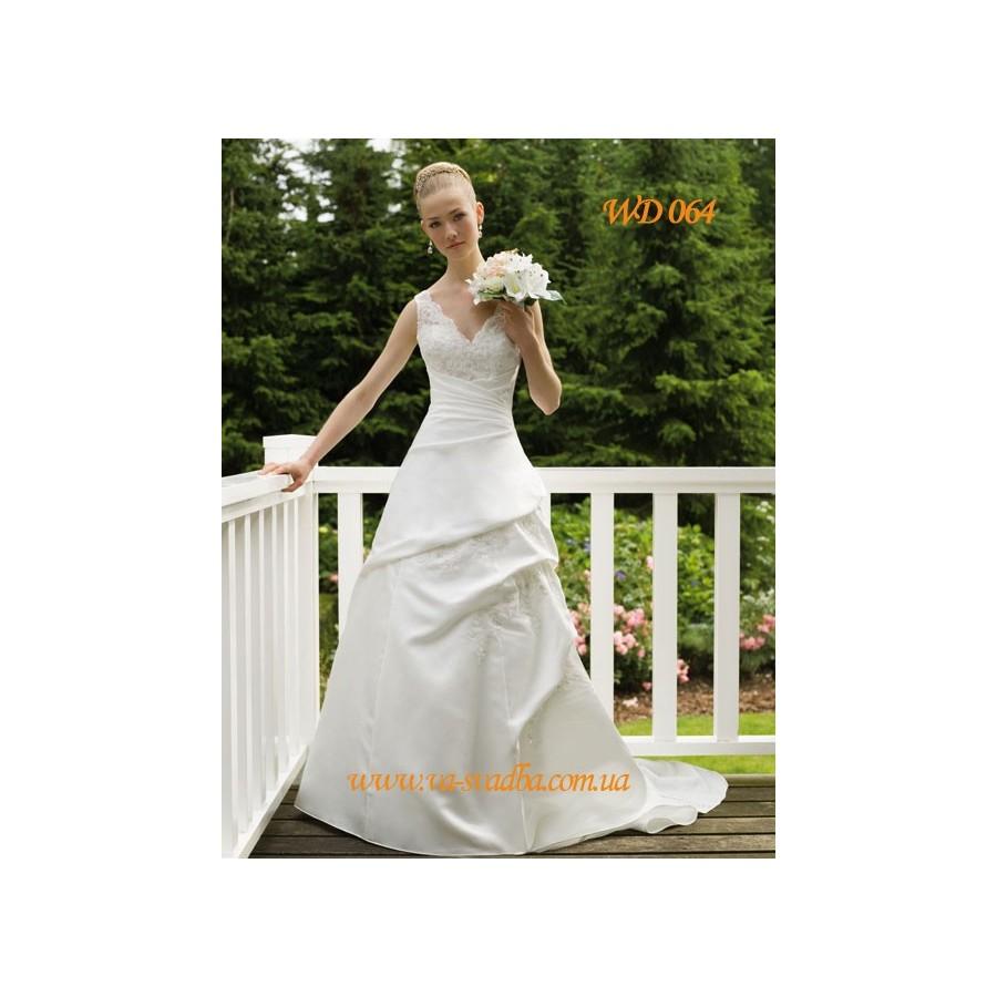 9ced6a394bc WD 064 Свадебное платье с кружевным лифом - Hatshop интернет магазин ...