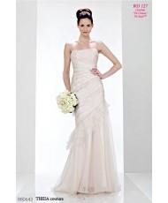 WD 127 Платье рыбка с драпировкой из органзы Theia Couture