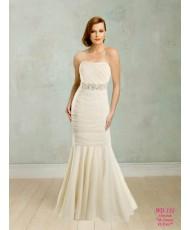 """WD 133 Платье """"рыбка"""" с драпировкой цвет айвори"""
