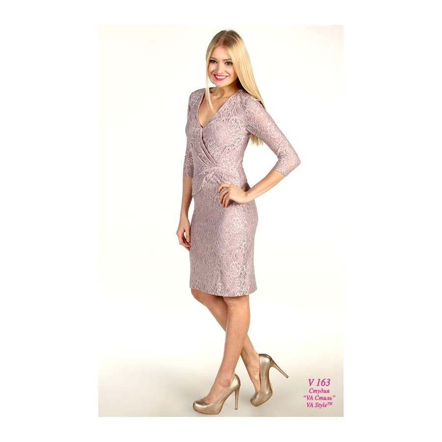 a759ea4e186 V 163 Платье кружевное с рукавом - Hatshop интернет магазин ...